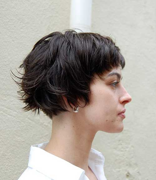 Layered Blunt Bob Cut Side View for Women