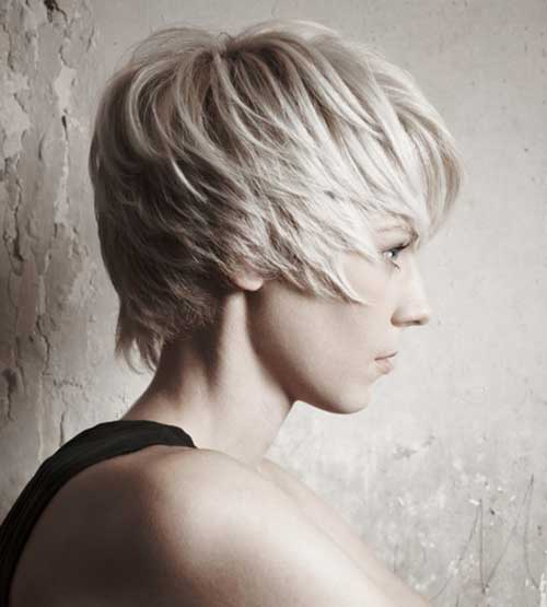 Layered Long Blonde Pixie Haircuts for Women