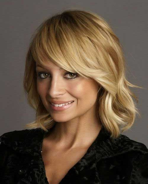 Medium Soft Wavy Bob with Bangs