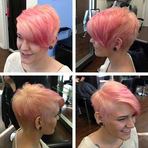 Cute Pink Pixie Hair