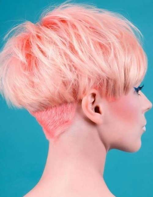 Pink Pixie Hairstyles Back View