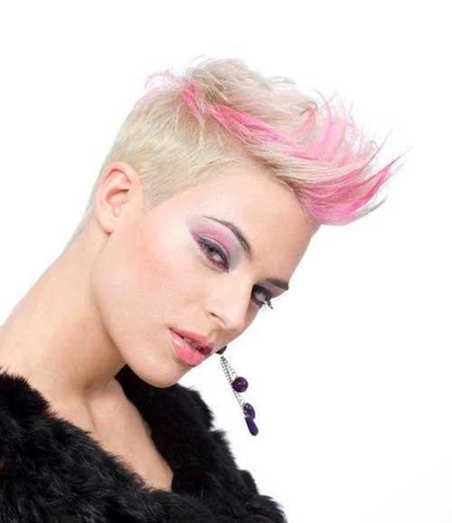 Pink Blonde Pixie Hairstyles