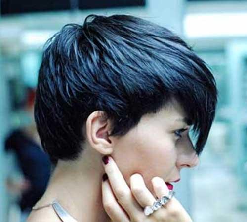 Pixie Cut Dark Thick Hair