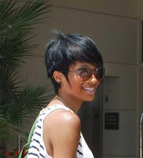 Straight Pixie Haircut for Black Women