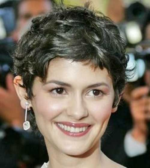 Pixie Haircut for Brown Wavy Hair Style