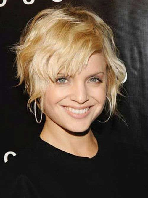 Pixie Haircut with Long Bangs for Wavy Hair Style