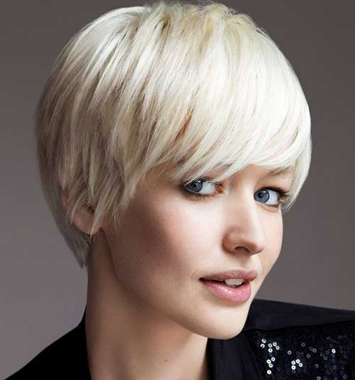 Pixie Blonde Hairstyles for Thick Hair