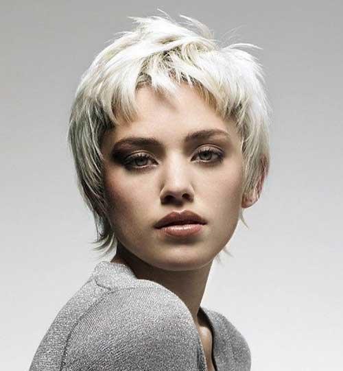Short Blonde Pixie Hairstyles for Fine Hair Cut