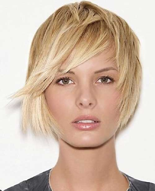 Straight Short Bob Hairstyles with Side Swept Bangs
