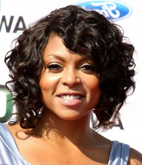 Short Curled Bob Hair for Round Faces Black Women