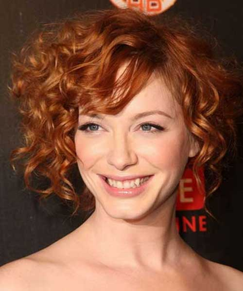 Short Curled Ginger Hairstyles 2014