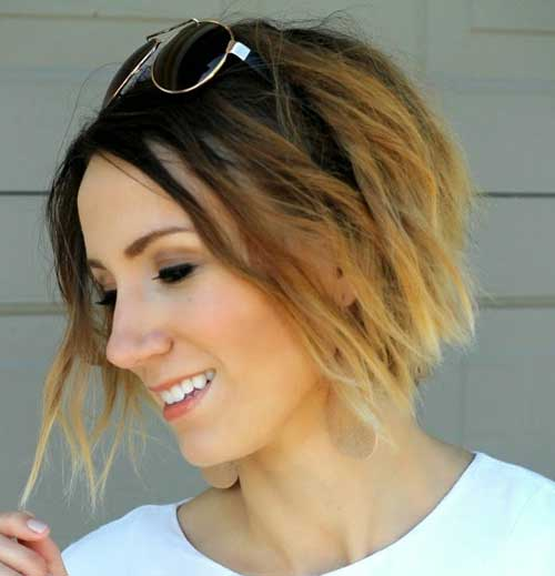 Short Cut Hair Ombre Styles