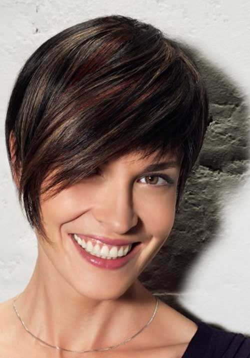 Short Haircuts For Brunettes