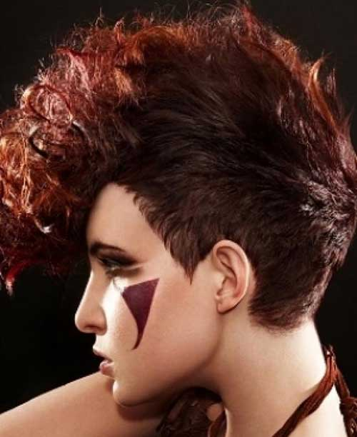 Short Haircuts for Curly Thick Red Hair Styles