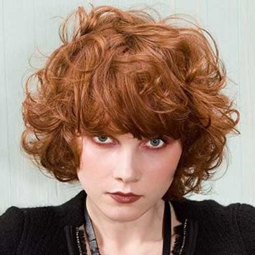Short Haircuts for Ginger Curly Thick Hair Ideas