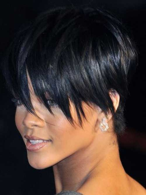 Short Pixie Haircuts with Bangs for Black Women