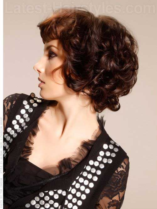 Short Hairstyles for Curly Thick Brown Hair