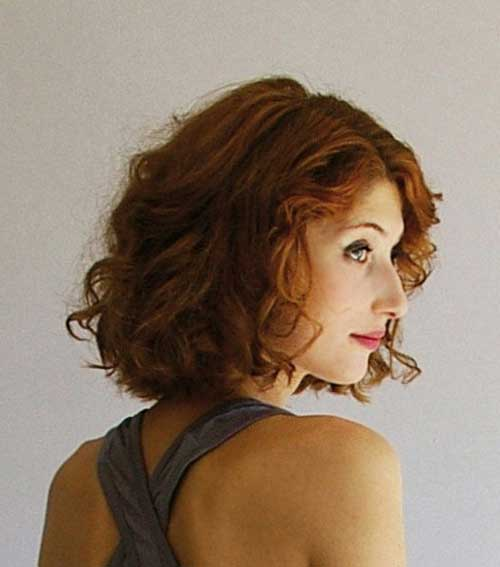 Short Hairstyles for Thick Curly Ginger Hair