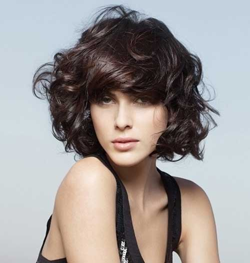 Short Hairstyles for Wavy Thick Hair with Bangs