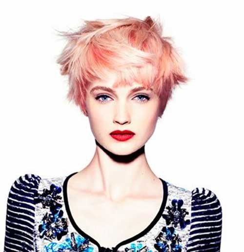 Short Pink Pixie Hairstyles Ideas