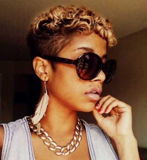 Blonde Short Pixie Cuts for Black Women