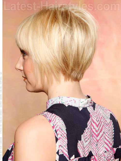 Short Pixie Hairstyles for Fine Hair Back View