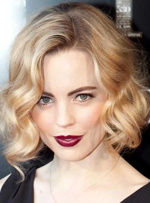 Short Soft Curly Blonde Haircuts 2015