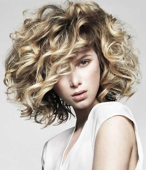 Short Thick Curly Bob Hair Ideas 2015
