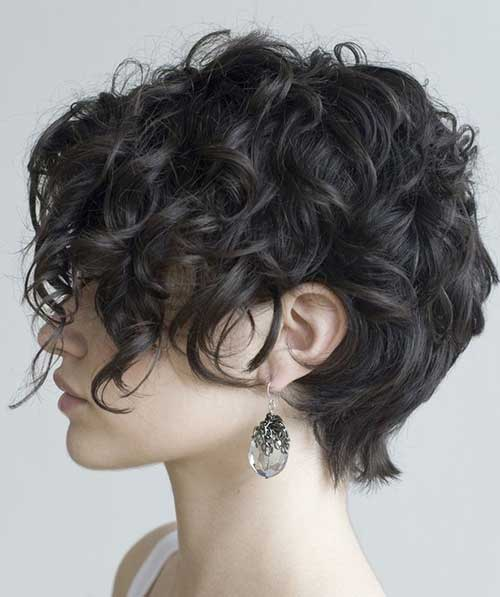 Short Thick Dark Curly Hairstyles