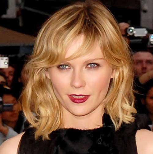 Short Wavy Blonde Hair Bangs