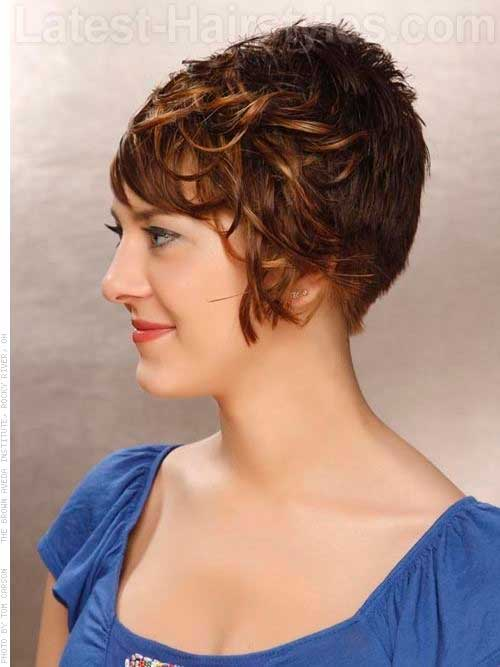Short Wavy Pixie Hair Side Bangs
