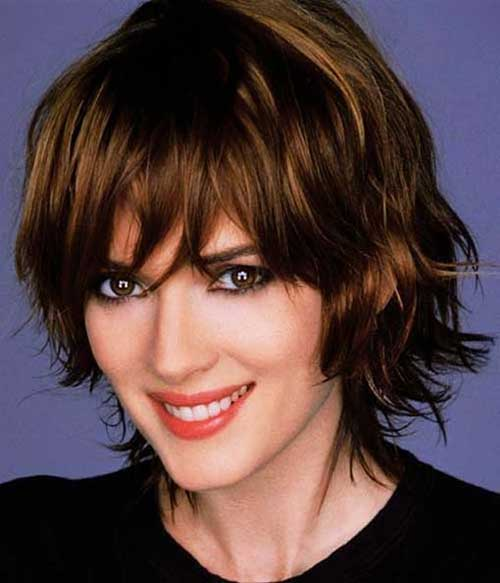 Short Wavy Layered Hair and Bangs