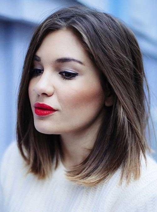 Straight Short to Medium Haircuts for Women