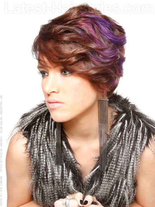 Thick Pixie Haircut for Wavy Hair Style