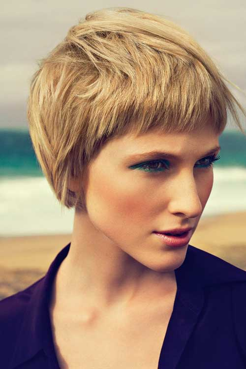 Thick Short Blonde Pixie Haircuts