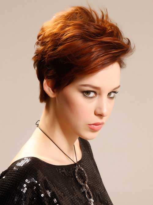 Thick Short Ginger Pixie Haircuts