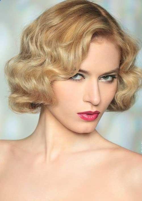 Very Short Blonde Curly Hair Styles 2015