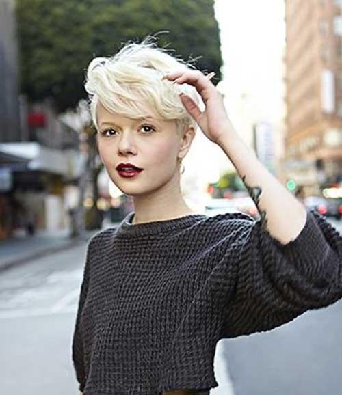 Very Short Blonde Pixie Hair Cuts
