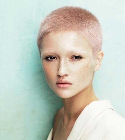 Very Short Pink Pixie Hairstyles