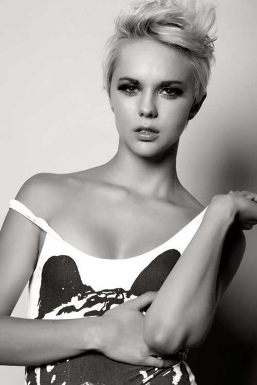 Very Short Pixie Haircut for Girls