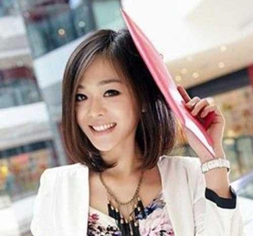 Asian Cute Short Straight Haircuts