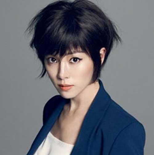 Asian Short Dark Haircut