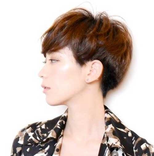 Asian Short Haircuts Side View