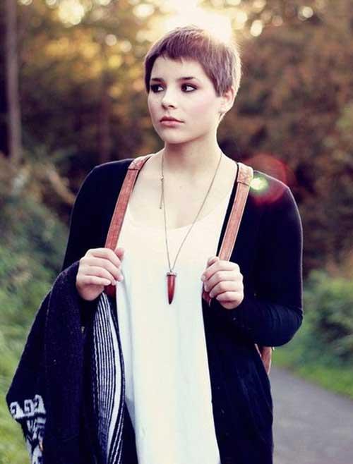 Best Brown Pixie Cuts for Round Faces