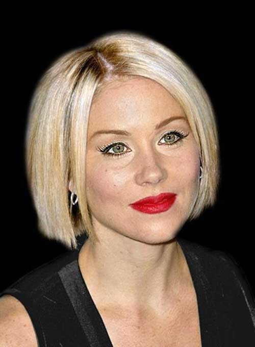 Blonde Blunt Bob with Bangs Haircuts