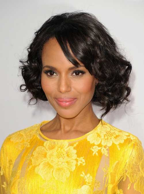 Bob Hairstyles with Curly Ends for Black Women 2014