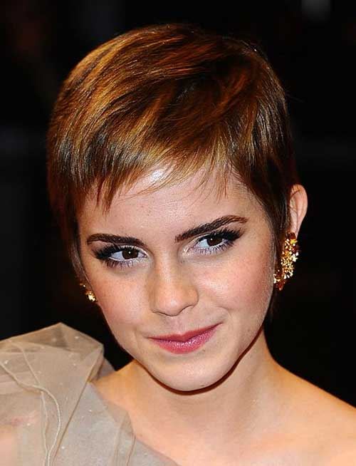 Brown Layered Short Pixie Cuts for Girls