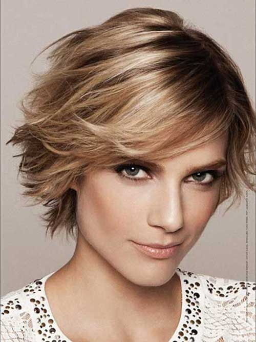 Cute Short Layered Bob Choppy Hairstyles