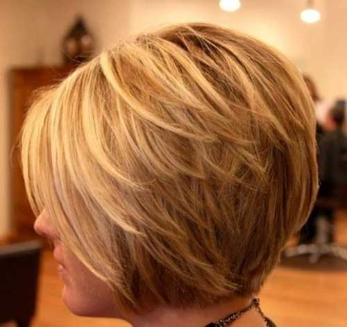 Cute Short Layered Graduated Hairstyles