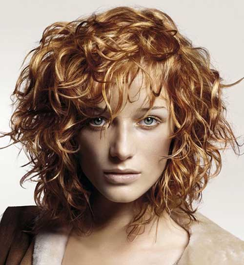 Honey Blonde Short Curly Hair